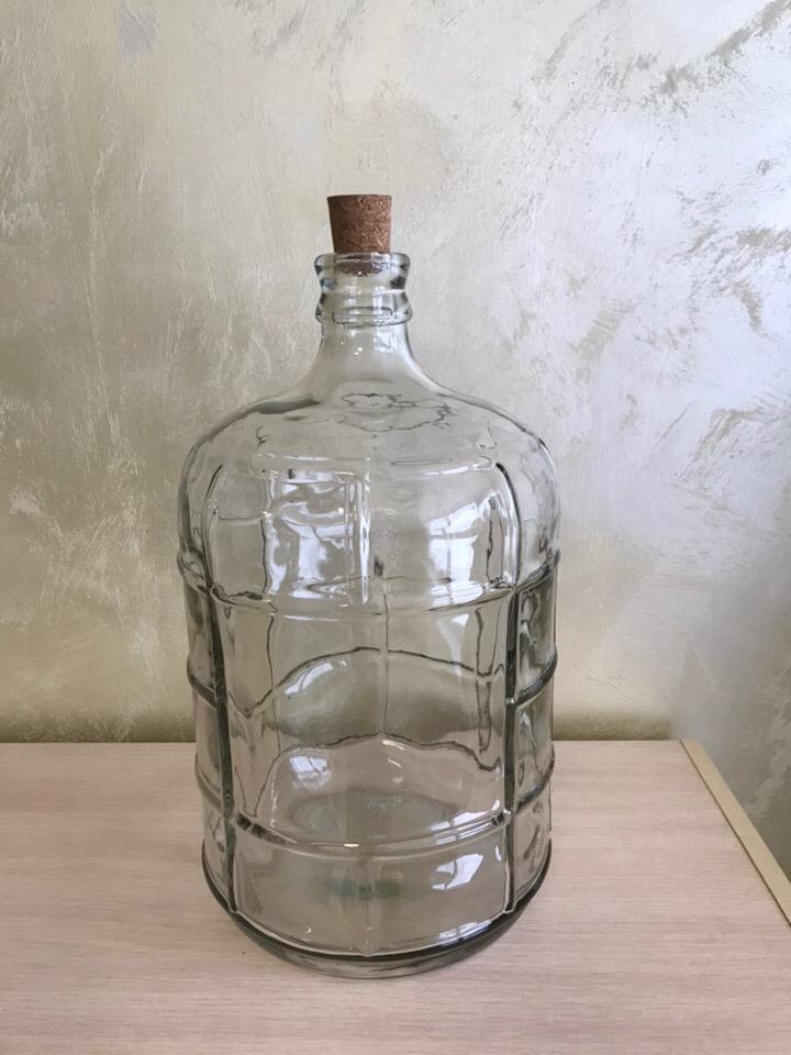 """Бутыль стеклянная 11 литров """"Бочонок"""""""