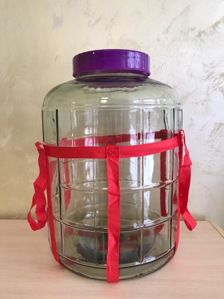 """Бутыль стеклянная 25 литров """"Бочонок"""""""