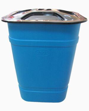 Бак 250 литров с крышкой (квадратный)