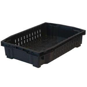 Пластмассовый ящик для овощей, ягодный перфорированный 600х400х130 мм