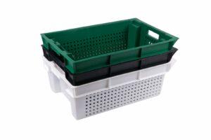 Овощной пластиковый ящик 600400200 мм (цветной)